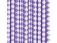 Papírová brčka 10ks fialová...