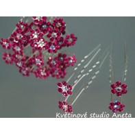 Vlásenka květinka štrasová fuchsie mini ...