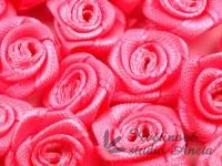 Látková růžička 15mm růžová tmavě...