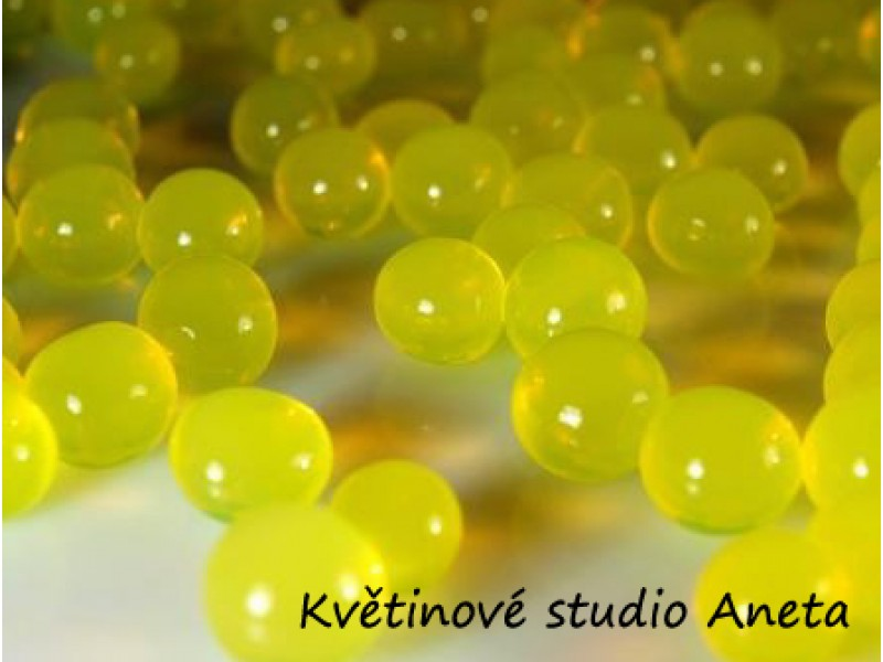 Gelove (vodni) perly žluté