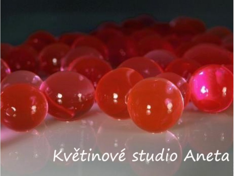 Gelove (vodni) perly červené