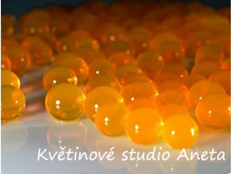 Gelove (vodni) perly oranžové