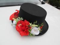 Cylindr na svatební vůz červený...