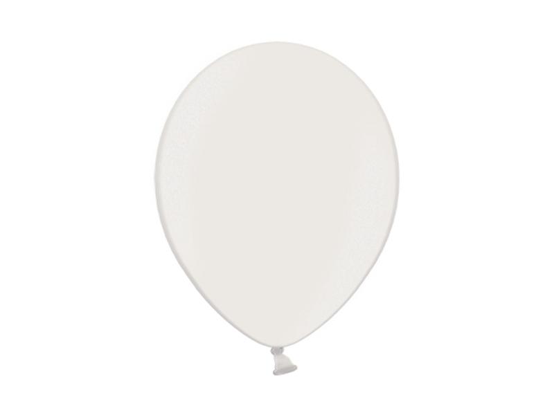 Balonek metalický bílý