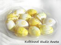 Sada vajíček 12ks  žlutá...