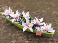 Gondola s orchideí zelená