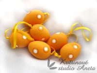 Vajíčko 4cm puntík oranžové...