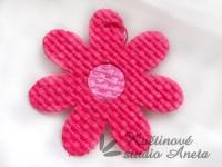 Květ z lýka růžový tmavý...