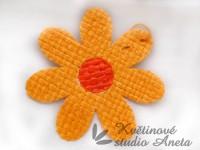 Květ z lýka oranžový světlý...