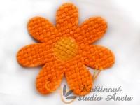 Květ z lýka oranžový středně malý...
