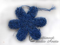 Sisalová kytička modrá...