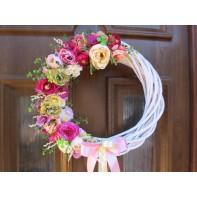 Květinový věneček štěstí  30cm ...
