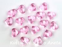 Akrylová srdíčka růžová 30ks...