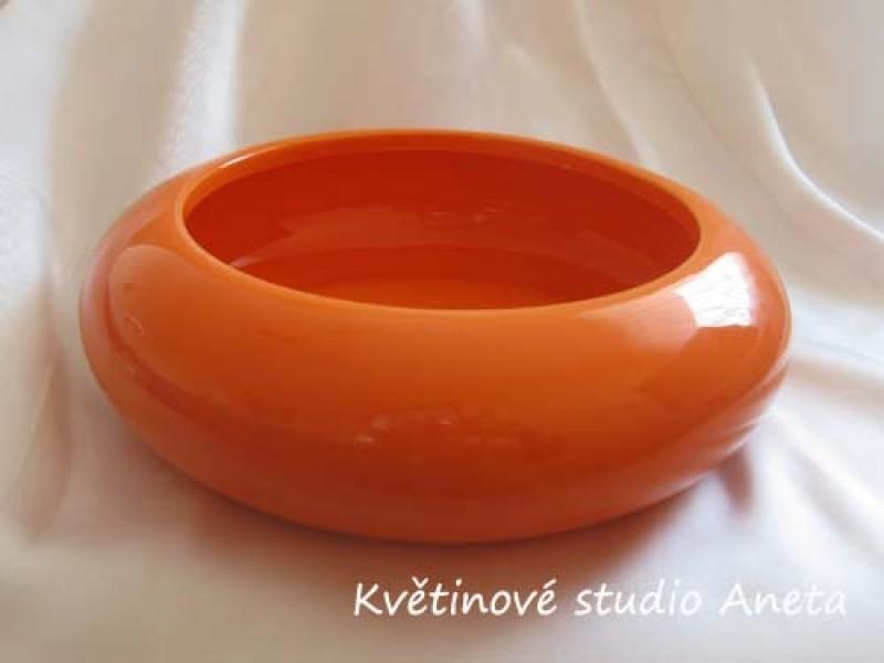 Keramická miska nízká oranžová