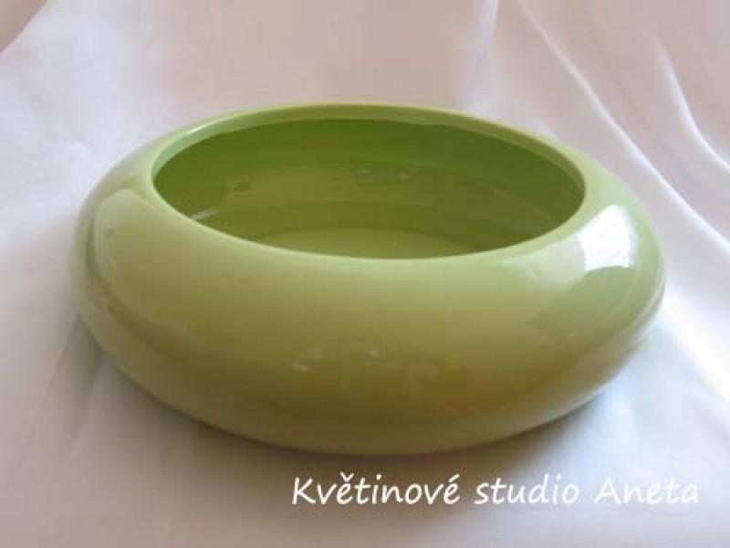 Keramická miska nízká zelená