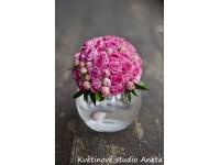 Svatební kytice z trsových růží...