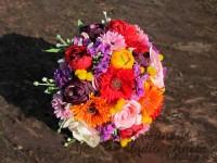 Svatební kytice letní z umělých květů
