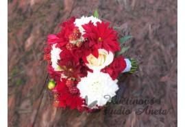 Svatební kytice - Letní ostružinová - kytička z letníc květů a plodů...1150,-