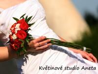 Svatební kytice žezlo z růží...