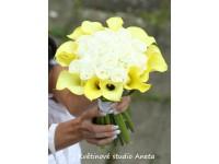 Svatební kytice z kal a růží Martina...