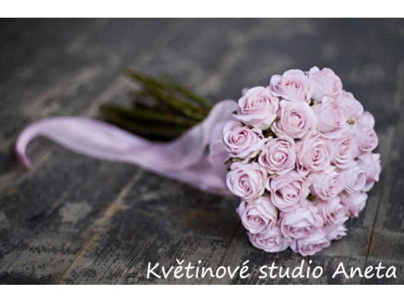 Svatební kytice z umělých růží