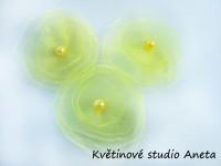 Květinka šifonová žlutá...