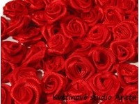 Látková růžička 10mm červená...
