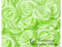 Látková růžička 15mm zelná světle...
