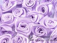 Látková růžička 15mm fialová...