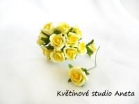 Růžička na drátku malá žlutá II....