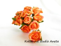 Růžička na drátku malá oranžová II....