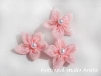 Květinka šifonová růžová...