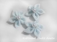 Květinka šifonová modrá...