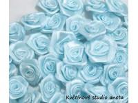 Látková růžička 12mm modrá...