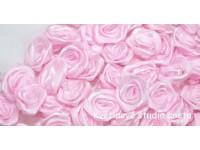 Látková růžička 10mm růžová...