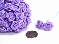 Saténové poupátko se stopkou lila...