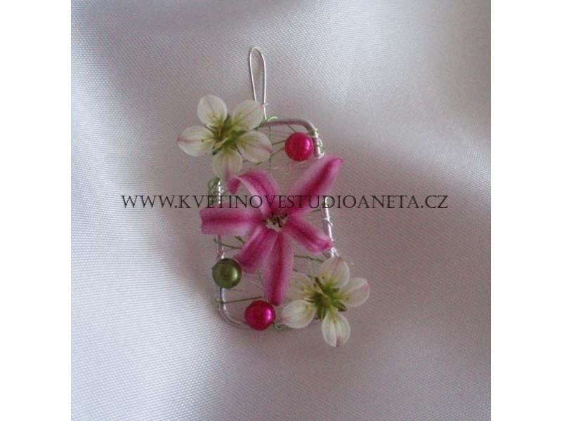 Květinový šperk - náušnice