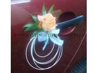Dekorace na svatební vůz -přísavka na kliku...