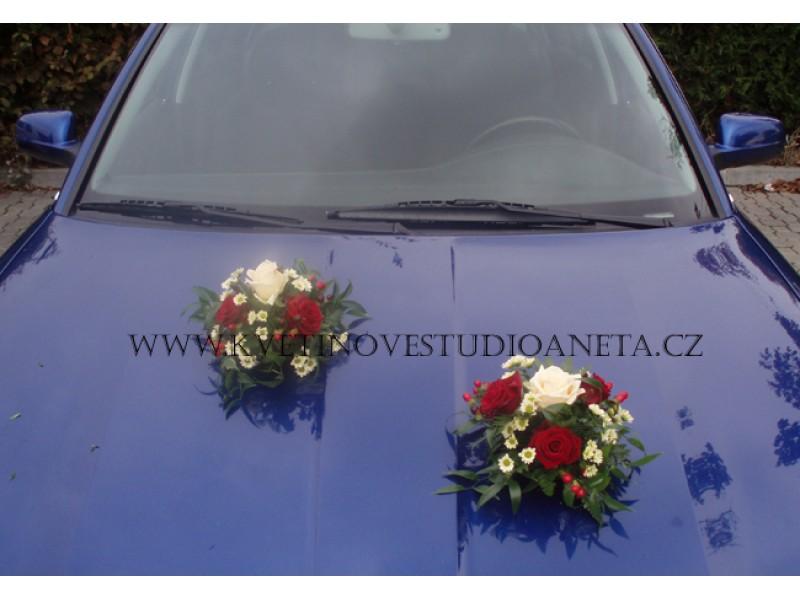 Dekorace na svatební vůz koulička