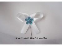 Vývazky, svatební mašličky na myrtu s plastovou květinkou ty...