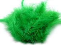 Pštrosí peří zelené...