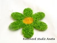 Sisalová kytička zelená...