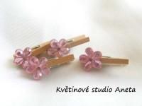 Kolíček s květinkou růžovou...