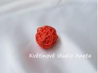 Ratanová koule 3cm oranžová...