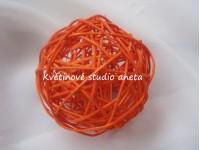 Ratanová koule 5cm oranžová...