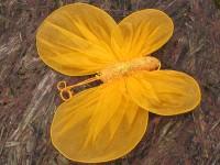 Motýl šifonový oranžový