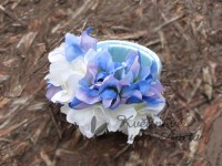 Svatební náramek bílá/modrá...