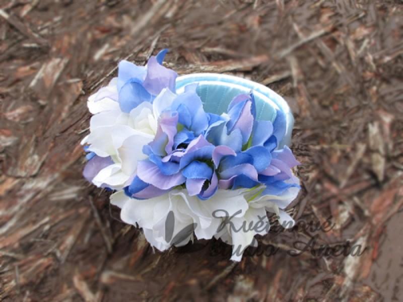 Svatební náramek bílá/modrá