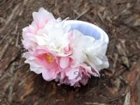 Svatební náramek bílá/růžová...