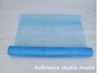 Organza 36cm modrá blankyt...
